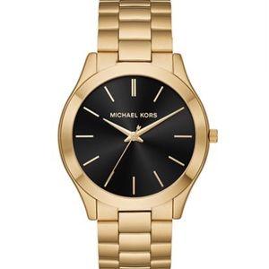 Michael Kors Black Face Gold Watch